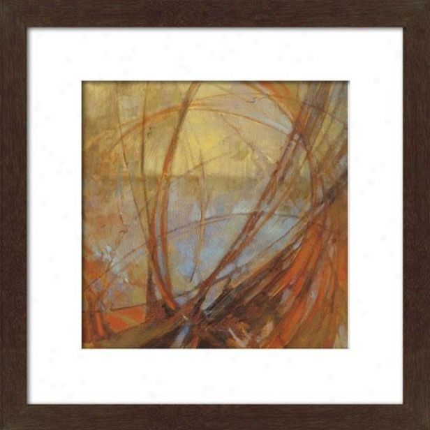 Watermark Ii Framed Wall Art - Ii, Matted Espresso