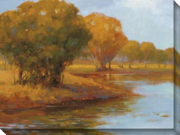 Water's Edge I Canvas Wall Art - I, Gold
