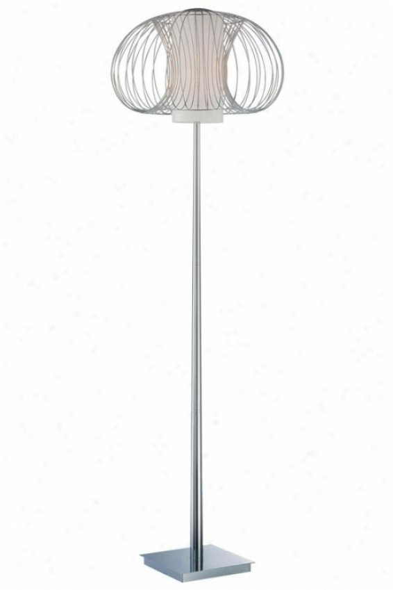 """waverly Floor Lamp - 63.5h X 19.5""""w, Silver Chrome"""