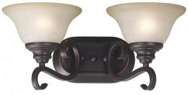 Wellington Vanity - 2-light, Oil Rubbed Bronze
