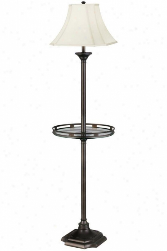 """""""wentworth Floor Lamp With Gallery Try - 61""""""""h, Brown"""""""