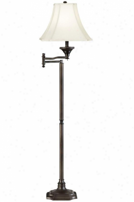 """wentworth Swing Arm Floor Lamp - 58""""h, Brown"""