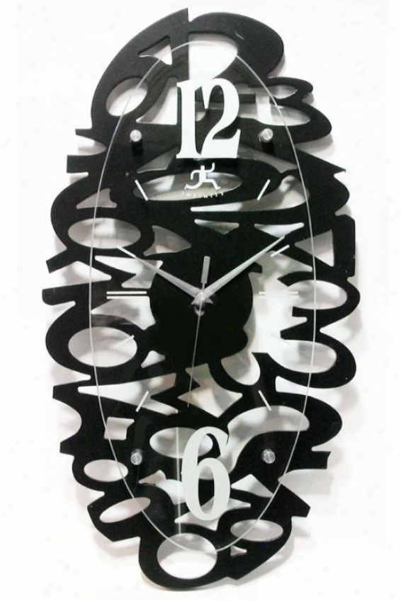 """whimsy Wall Clock - 21.6""""hx11.12""""w, Black"""