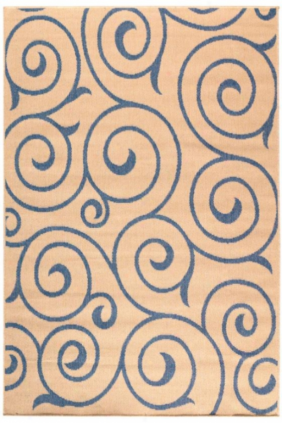 """whirl All-weather Rug - 8'6""""x13', Blue"""