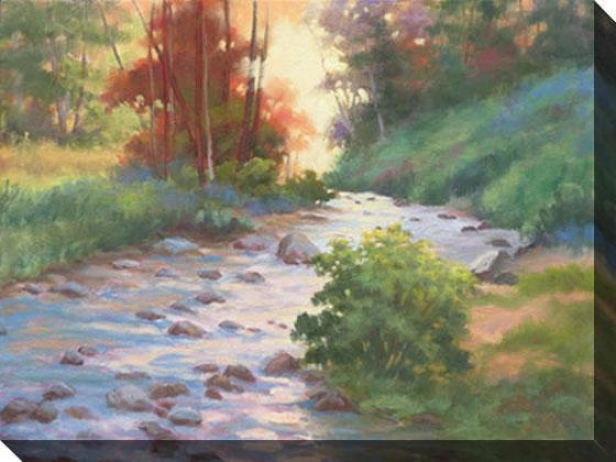 """whispers Of Fall Canvas Wall Art - 48""""hx36""""w, Verdant"""