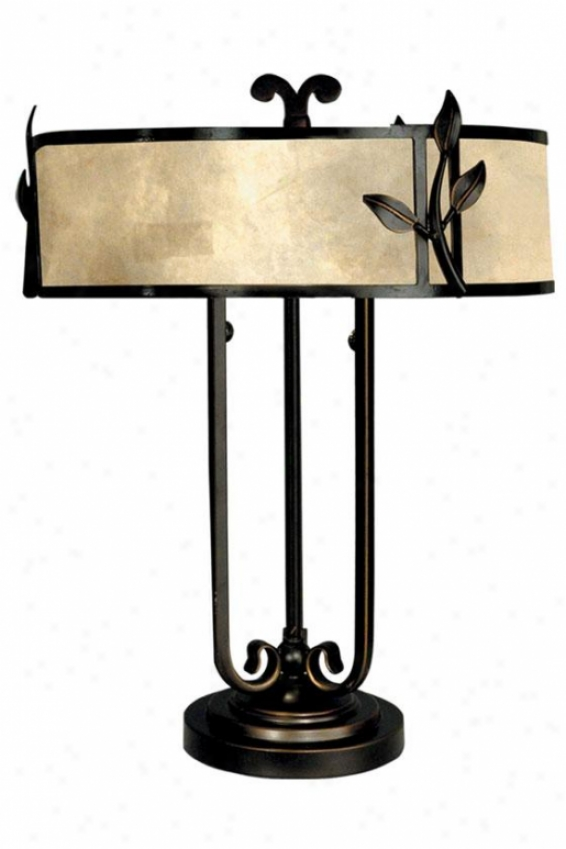 """""""white Mica Classic Table Lamp - 22h X 16""""""""d, Antq Goldn Sand"""""""