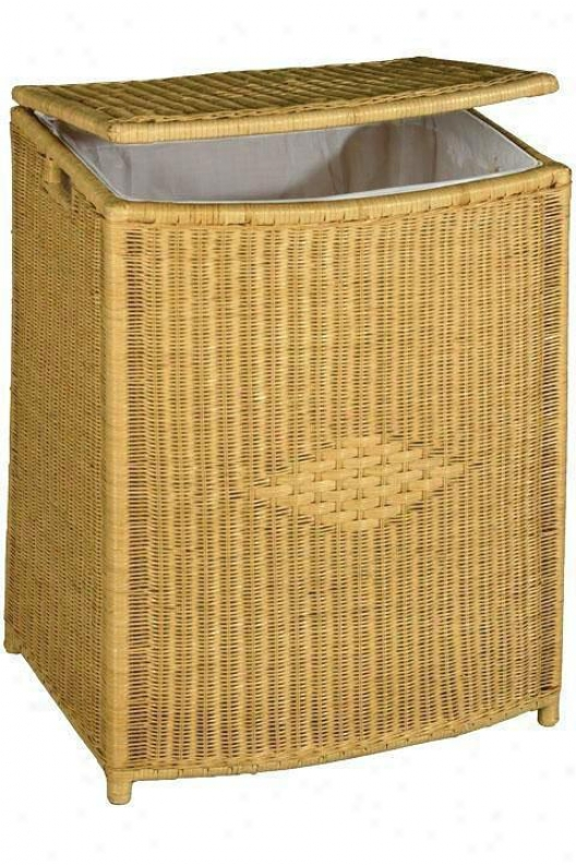"""wickeer Diamond Weave Rectangular Clothes Laundry Crate - Large - 32""""hx24""""w, Tan"""