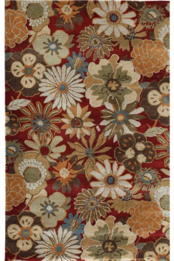 Wildbeook Area Rug - 8'x11', Red