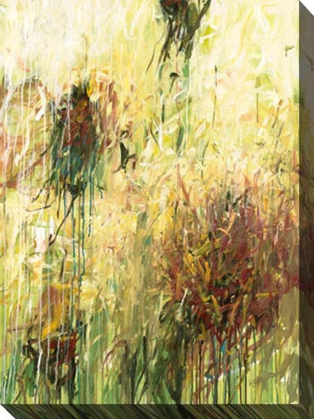 Wildflowers Ii Canvas Wall Art - Ii, Green