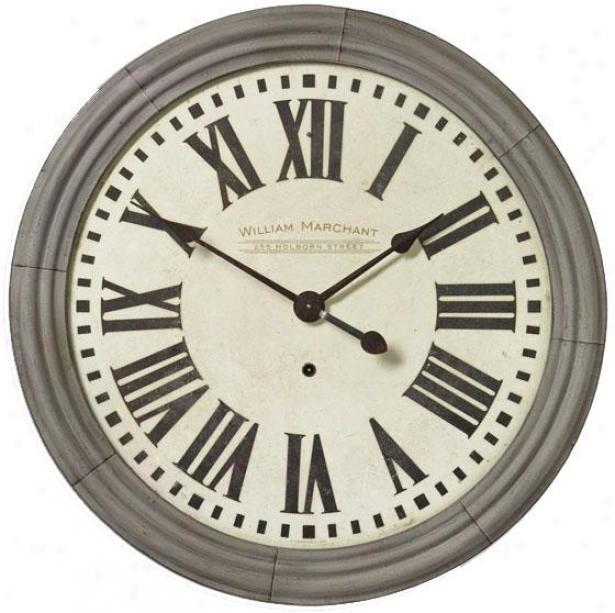 """william Marchant Cream 38"""" Wall Clock - 38 X 38 X 2.25"""", Ivory"""