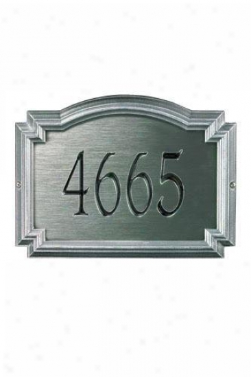 Williamsburg One-line Estaye Metal Wall Address Plaque - Estate/one Line, Slate Grey