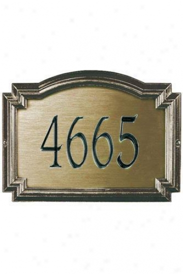 Williamsburg One-line Standard Metal Wall Address Plaque - Standard/1 Line, Large boiler