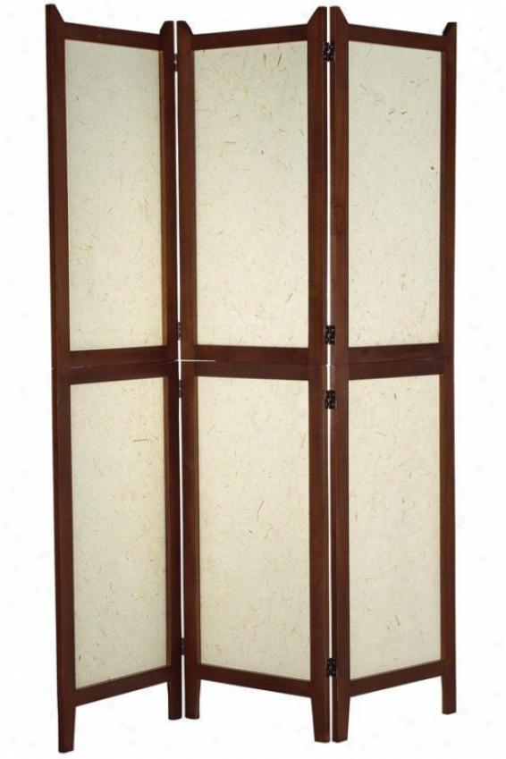 """""""wilton Room Divider - 53.5""""""""wx70""""""""h, Walnut/beige"""""""