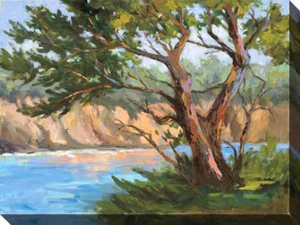 Wind-blown Cypress Ii Canvas Wall Art - Ii, Livid