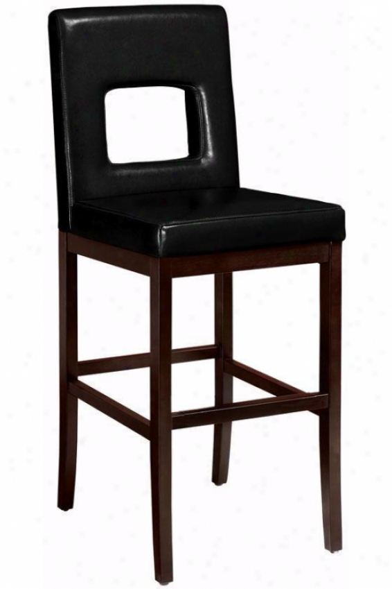 """window Bar Stool - 44.5""""h, Black"""