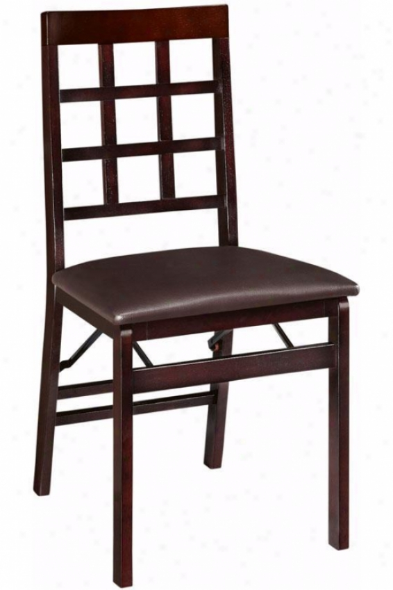 Window Pane Foldable Seat of justice - Chair Height, Brown