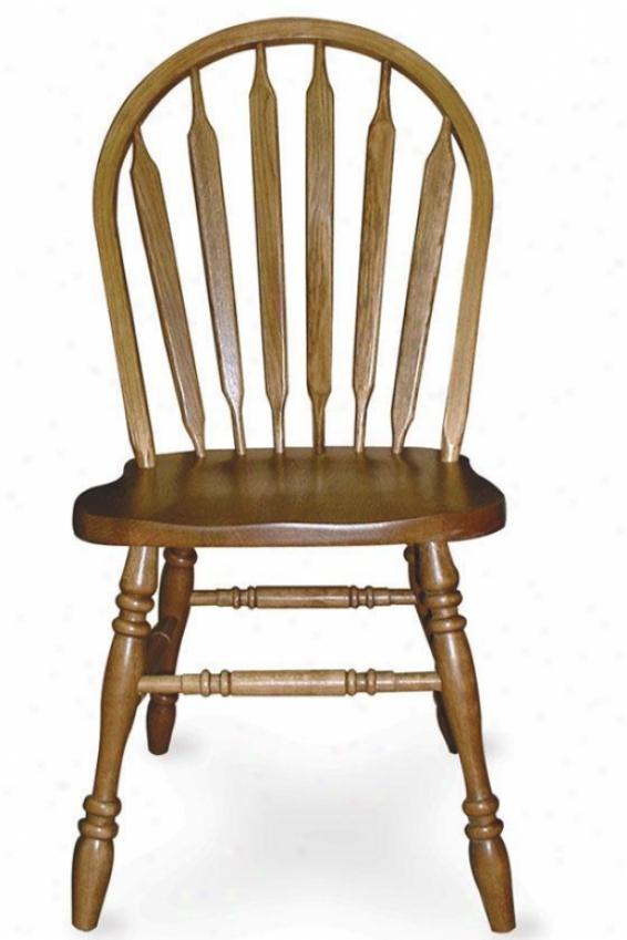 """windsor Arrow-back Sdde Chair - 18""""h, Brown"""
