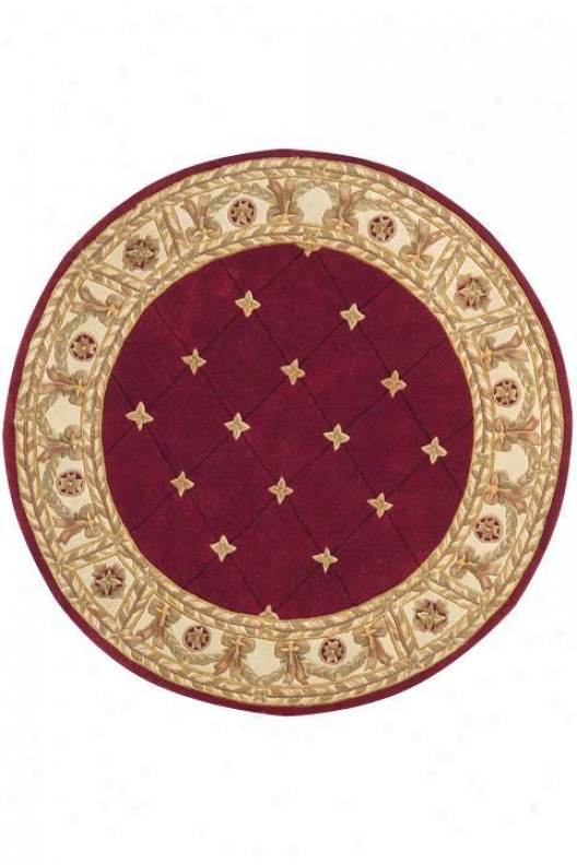 Windsor Iii Area Rug - 3'x5', Burgundy