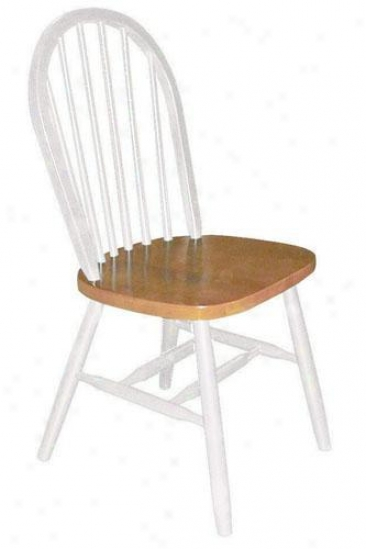 """windsor Spindle-back Side Chair - 37.25""""hx17.5""""w, White"""