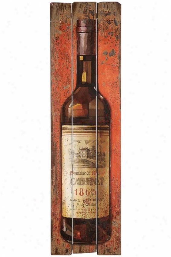 """""""wine Bottle Wall Brooch - 60""""""""hx17""""""""w, Red"""""""