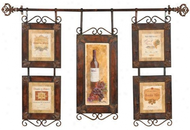 Wine Collage Wall Art - 59x38, Multi