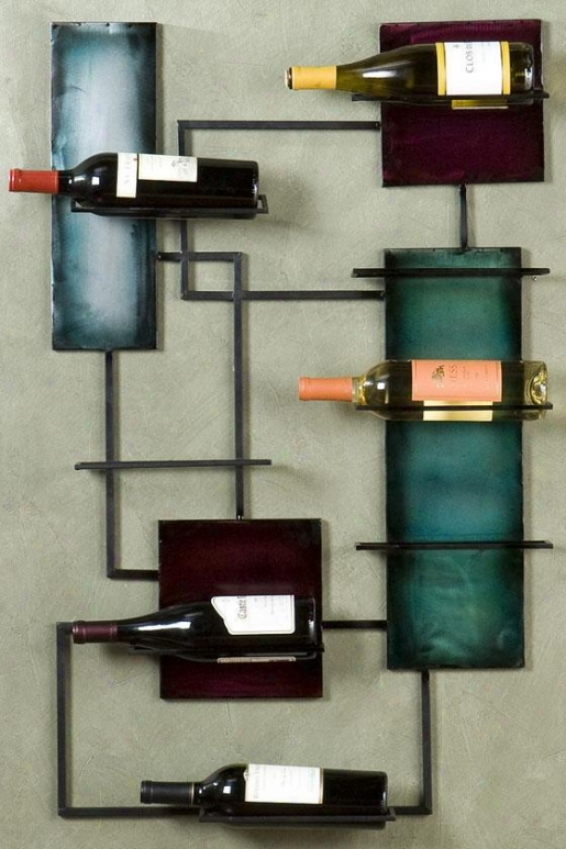 """wine Storge Wall Statuary - 24""""wd38.5""""h, Bronze"""