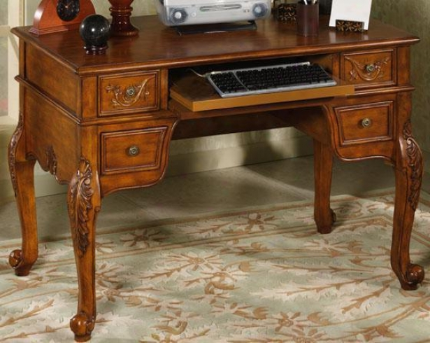 """winslow Computer Writing Desk - 32.25""""hx49""""w, Oak"""