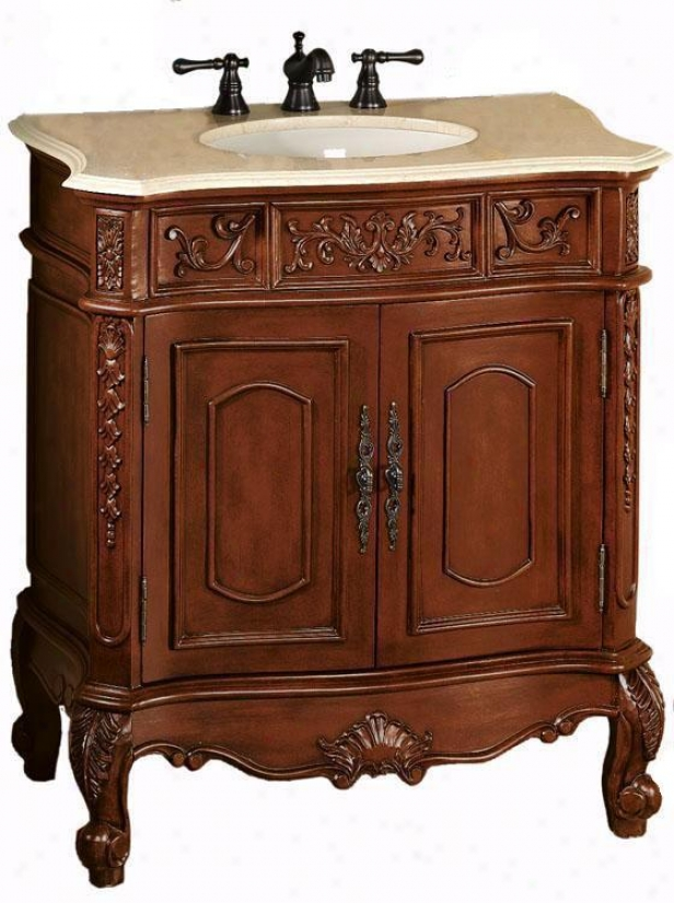 """winslow Standard Bathroom Bathroom Vanity - 37""""hx33""""w, Red"""