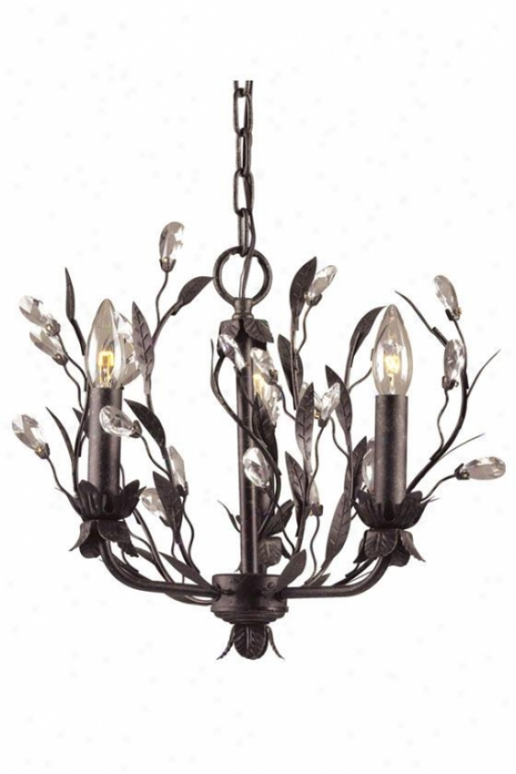 """winter Garden 13""""h Chandelier - 3-light, Deep Rust"""