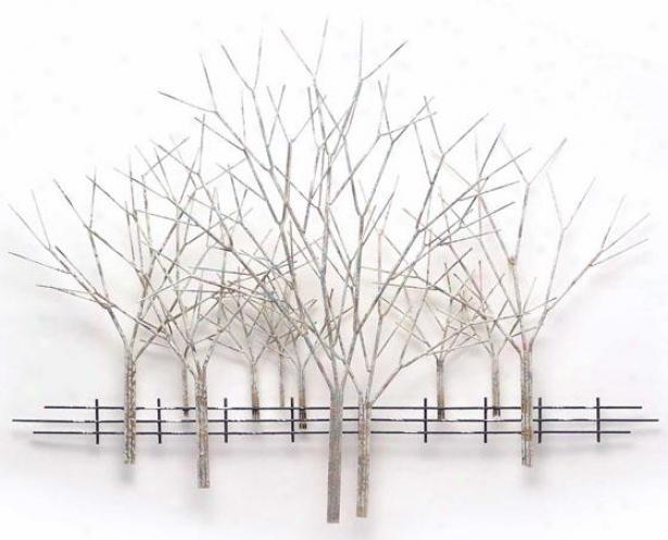 Winter Orchard Wall Sculpture - 54hx41wx4d, Gray