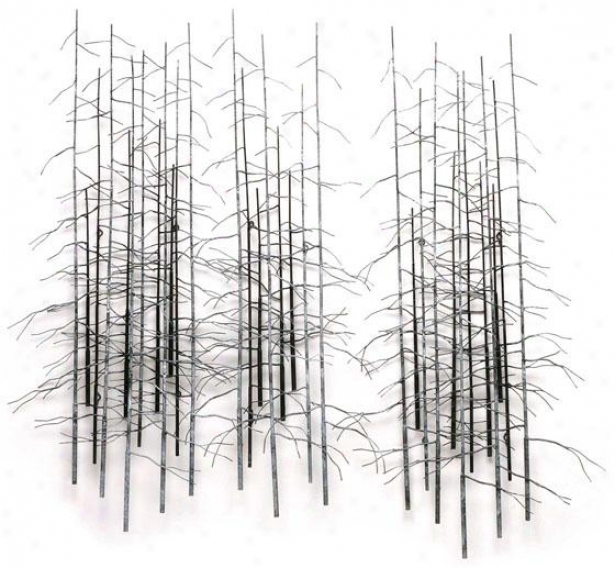 Winter Trees Wall Sculpture - Set Of 3 - 65hx85wx3d, Gray