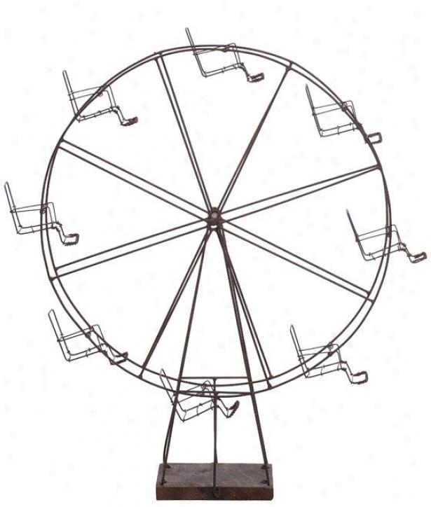 """wire Ferris Wheel - 22""""hx18""""wx6""""d, Pumpkin"""