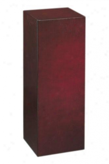 """wood Square Pedestall - 30""""h, Brick Red"""