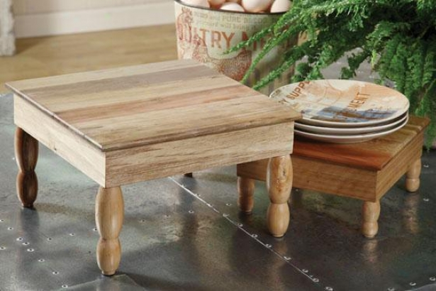 Wooden Pedestal - Small, Ivory