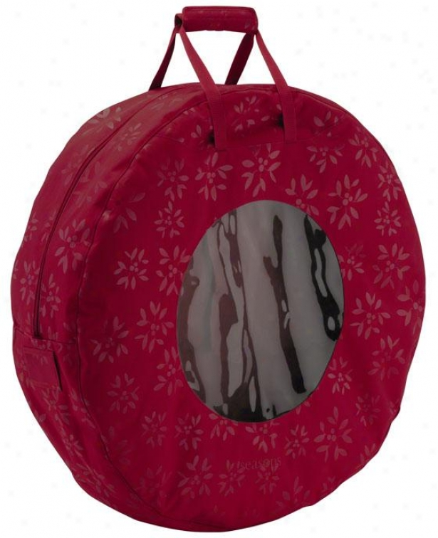 """wreath Storage Bag - 7.5""""hx29""""w, Crimson Red"""