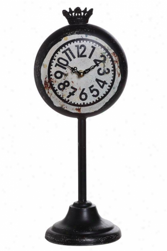 """wright Clock - 18""""hx7""""wx6""""d, Black"""