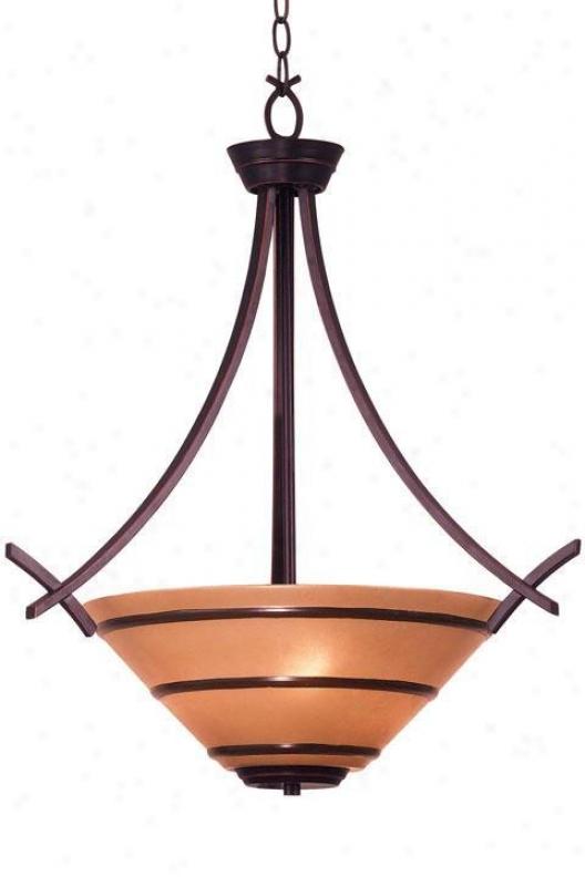 Wright Three-light Pendant - Amber Scavo, Brown