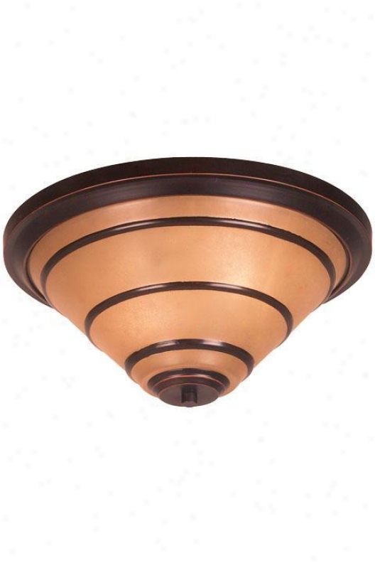 Wright Two-light Flush Mount - Amber Scavo, Bronze