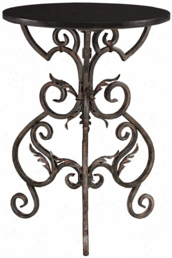 """""""wrought Iron Accent Side Table - 27.25""""""""hx20.25""""""""f, Black"""""""