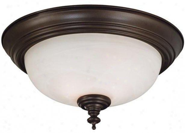 """wynwood 2-light Flush Mount - 7""""h, Brown"""