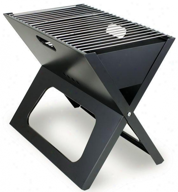 """""""x-grill Portable Bbq Grill - 16""""""""hx12.25""""""""w, Black"""""""