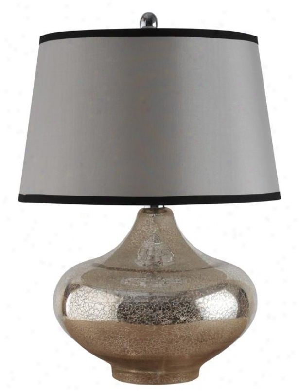 """""""yarmouth Table Lamp - 17""""""""wx17""""""""dx25""""""""h, Silver"""""""