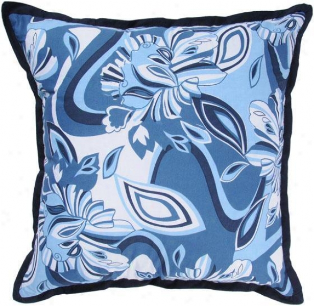 """york Pillow - 18""""x18"""", Blue"""
