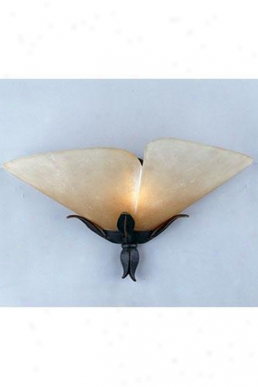 """yuma Wide Wall Sconce - 8.5""""hx17""""w, Gold Bronze"""
