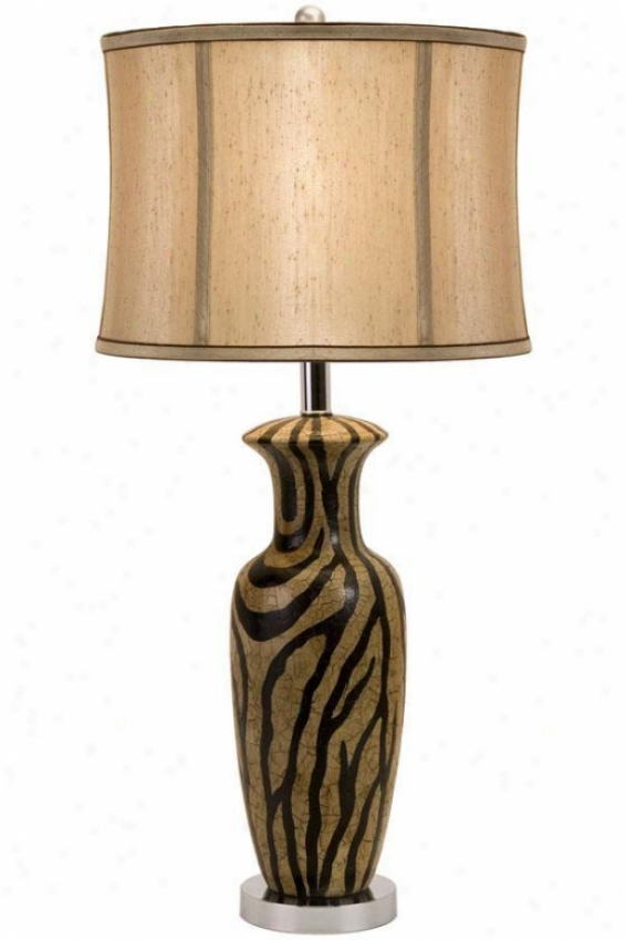 """zanad Ceramic Lamp - 30""""hx13""""d, Brown"""