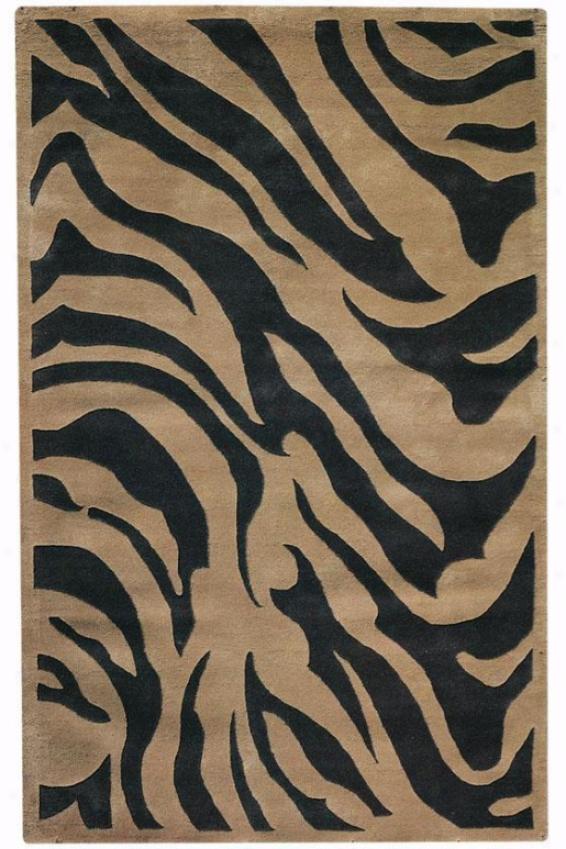 """""""zebra Area Rug - 9'6""""""""x13'6"""""""", Coffee"""""""