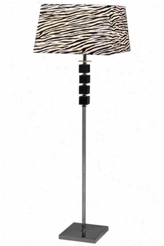 """zebra Floor Lamp - 60""""hx17.5""""w, Black"""