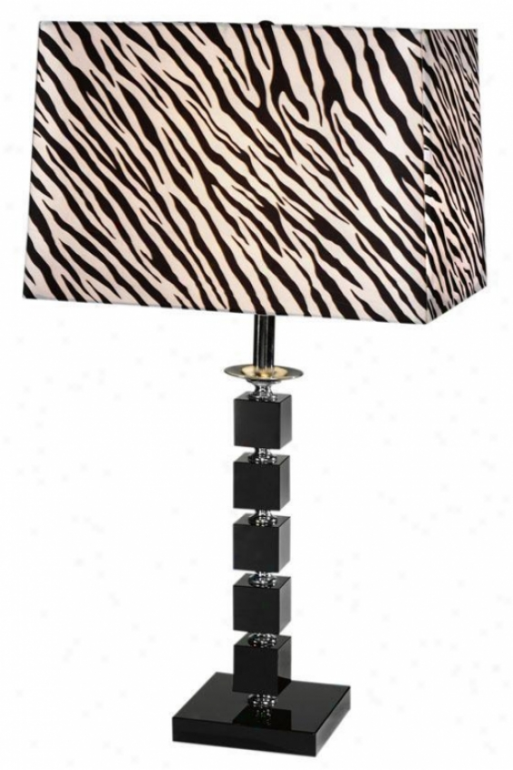 """zebra Slab Lamp - 28""""hx15""""w, Black"""