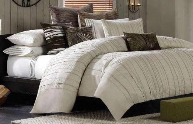 Zen Garden Ii Comforter Set - King 10pc Set, Ivory