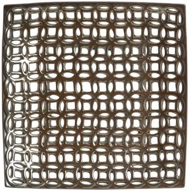 """zion Cutwork Charger - 12.5""""sq, Bronze"""